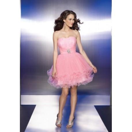 krátké růžové šaty na míru