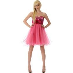 mini společenské šaty na míru růžové