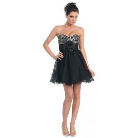 mini společenské šaty na míru černé