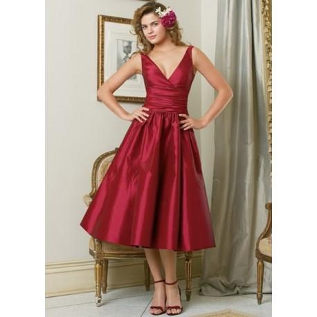 společenské červené šaty na míru