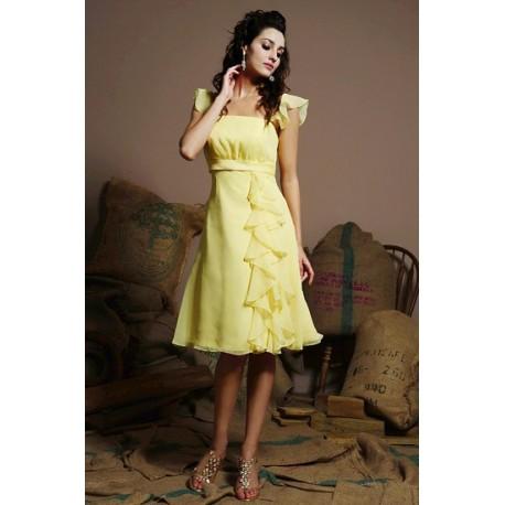 společenské žluté šaty na míru