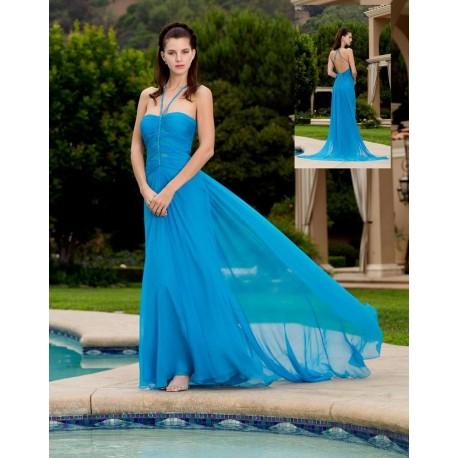 Modré společenské šaty na míru