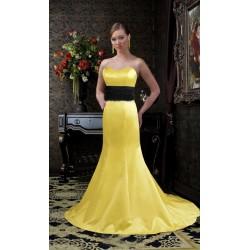žluté plesové šaty na míru