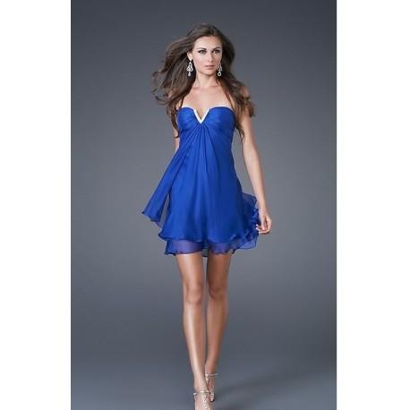 5ae10d77563d společenské šaty mini modré - Hollywood Style E-Shop - plesové a ...