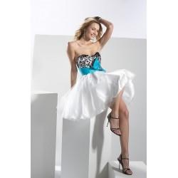 mini společenské šaty zebra