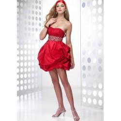 červené mini společenské šaty