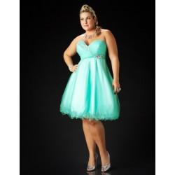 zelené společenské šaty i pro baculky