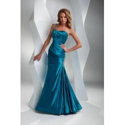 modré společenské šaty na jedno ramínko