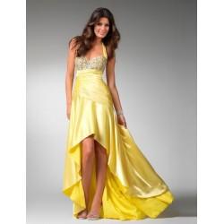 žluté společenské šaty Katrin