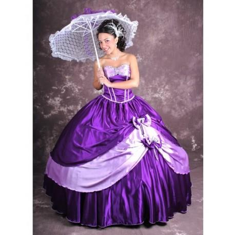 fialové luxusní společenské šaty