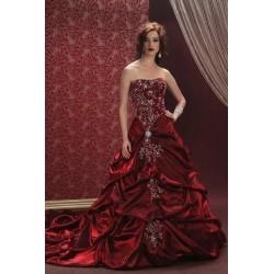 červené společenské šaty Lucia