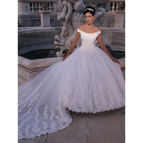 svatební šaty s vlečkou Marianna - Hollywood Style E-Shop - plesové ... a904c8308a