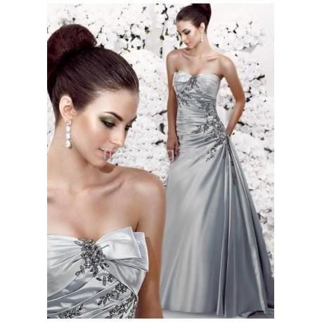 d7b85689a4 stříbrné společenské šaty Tamara - Hollywood Style E-Shop - plesové ...