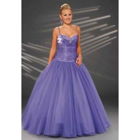 společenské šaty lila