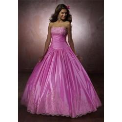růžové společenské šaty