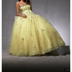 žluté společenské šaty AKCE