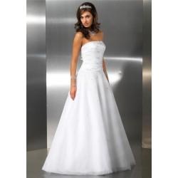 svatební šaty bílé