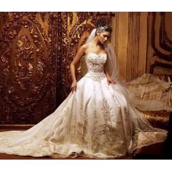 princeznovské svatební šaty