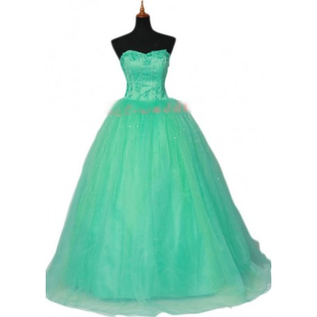 zelené korzetové šaty