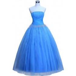 světle modré společenské šaty