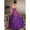 plesové šaty na maturitní ples fialové