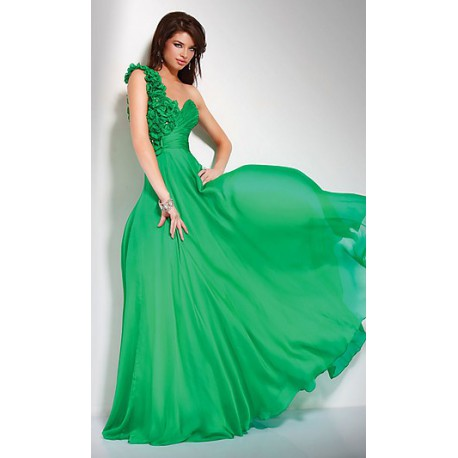 společneské šaty Dita 17 zelené dlouhé