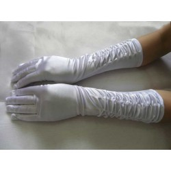 bílé svatební rukavičky SKLADEM