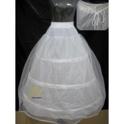 Spodnička spodnice bílá - 3 obruče, 2 vrstvy