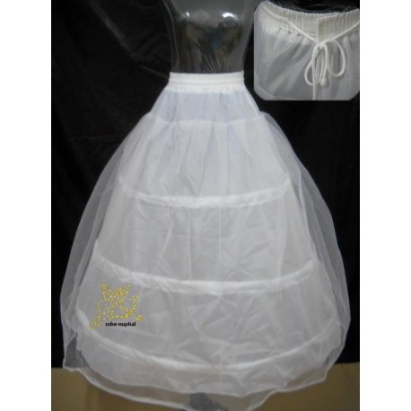Spodnička pod šaty bílá - 3 obruče, 2 vrstvy SKLADEM