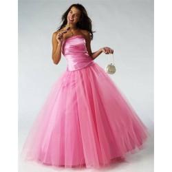 růžové plesové společenské šaty L-XL