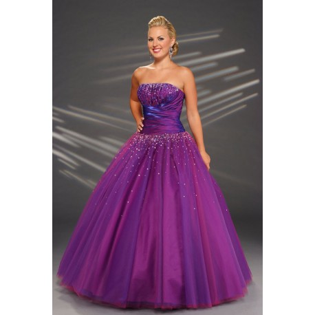 1765238dc AKCE fialové plesové společenské šaty na maturitní ples Catharine XL ...