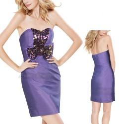krátké fialové společenské šaty Madeira SKLADEM