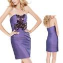 krátké fialové společenské šaty Madeira S