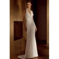luxusní ivory svatební šaty Florencia M