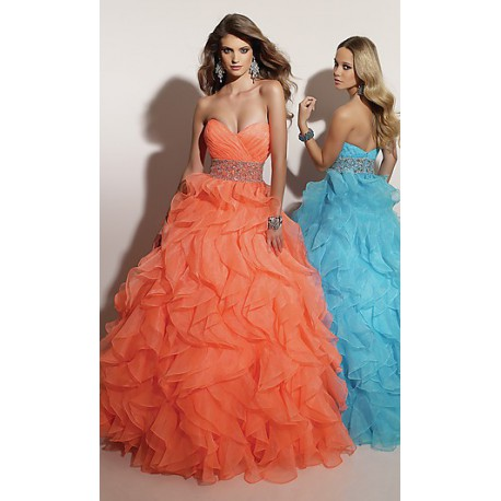 plesové šaty oranžové Mandy 1 - Hollywood Style E-Shop - plesové a ... a190e885675