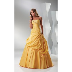 plesové šaty žluté Mandy 3