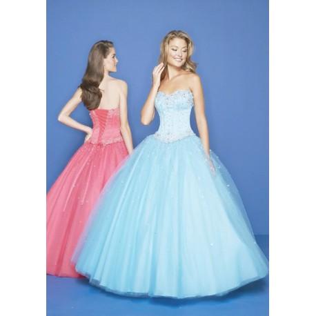 světle modré plesové šaty Abigail SKLADEM