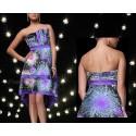 neobyčejné společenské fialové šaty S