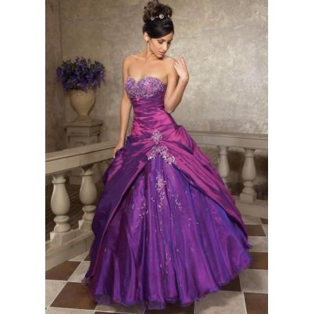 fialové společenské a plesové šaty Violetta SKLADEM