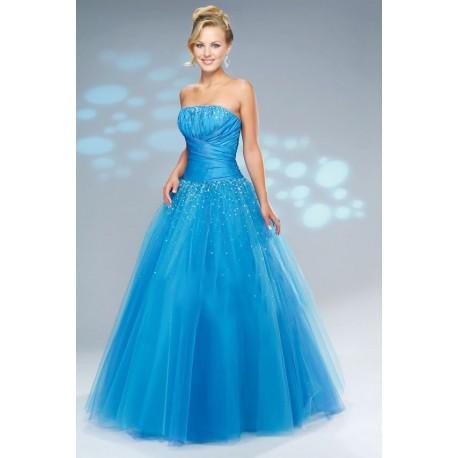 plesové modré společenské šaty Nina SKLADEM