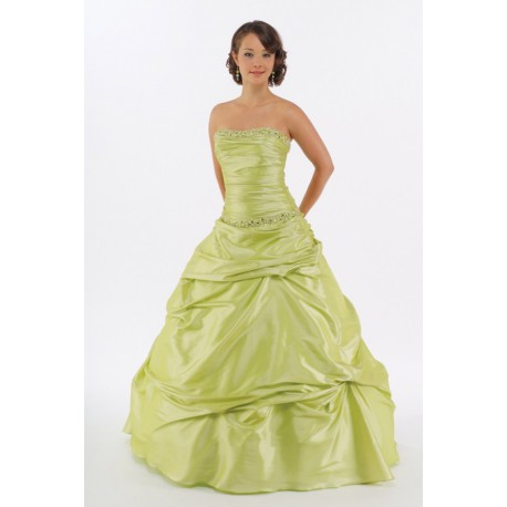 limetkové plesové šaty Agnes 12