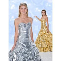 stříbrné plesové šaty Agnes 15