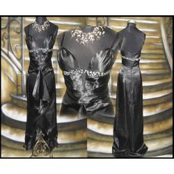 sexy černé dlouhé společenské šaty SKLADEM