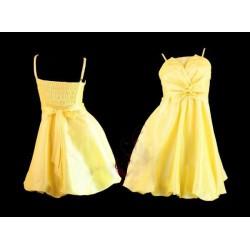 krátké žluté společenské šaty L-XL SKLADEM