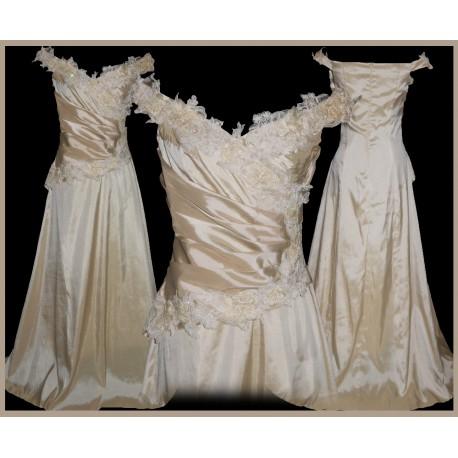 luxusní svatební plesové šaty Champagne SKLADEM