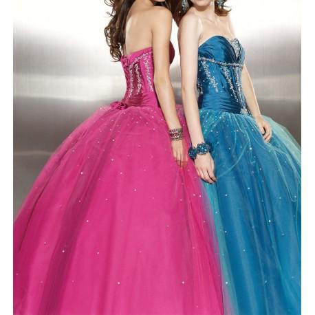 luxusní plesové šaty Mandy 20 žluté, modré, růžové