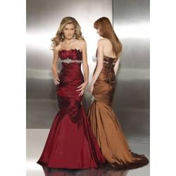 společenské šaty Mandy 25 hnědé a rudé