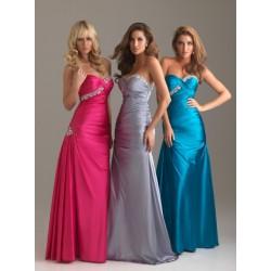 plesové šaty Mandy 24 modré, stříbrné, růžové