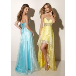 maturitní šaty Mandy 30 modré a žluté