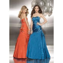 maturitní šaty Mandy 32 oranžové, zelené, modré